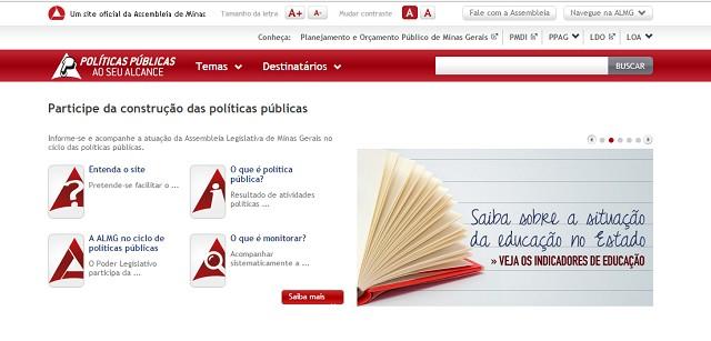 O site auxilia deputados e comissões da ALMG na fiscalização e no acompanhamento das políticas públicas, permitindo o controle pela sociedade civil e por gestores públicos