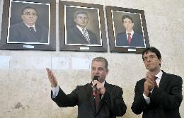 Solenidade de inauguração do retrato do ex-presidente da ALMG Dinis Pinheiro
