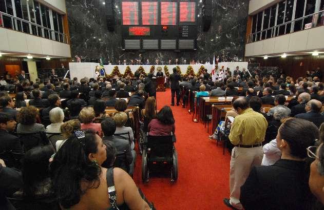 A 17ª Legislatura se iniciou com a posse dos deputados em 1º de fevereiro de 2011 - Arquivo/ALMG