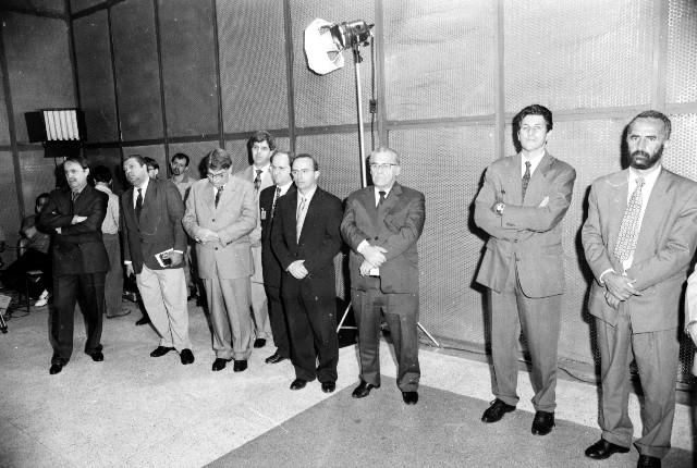 Cerimônia de inauguração dos estúdios da TV Assembleia