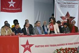 Solenidade de posse do novo diretório do Partido dos Trabalhadores - PT - em Minas Gerais
