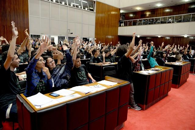 No Plenário, estudantes de todo o Estado discutem educação política