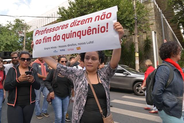 Manifestação de professores da rede particular de ensino