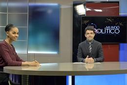 Gravação do Programa Mundo Político com a pré-candidata a presidente da República Marina Silva