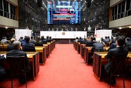 Após um ano do início da 19ª Legislatura, será instalada a 2ª Sessão Legislativa, em Reunião Solene no Plenário - Arquivo ALMG