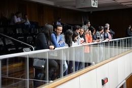 Visita orientada de comitiva do Parlamento Jovem da Câmara de Capela Nova às dependências da Assembleia
