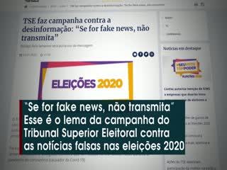 Eleições 2020: TSE divulga campanha contra fake news