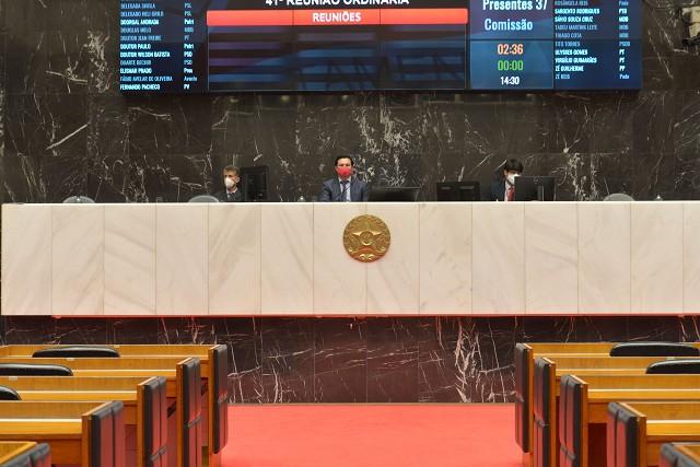Análise de proposições na Reunião Ordinária de Plenário, realizada de forma remota em razão da pandemia de Covid-19, causada pelo coronavírus.