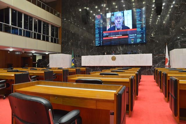 Betão apresentou dados sobre a Copasa, empresa que, segundo ele, teve um lucro de R$ 754 milhões em 2019 e atinge 55% da população de MG