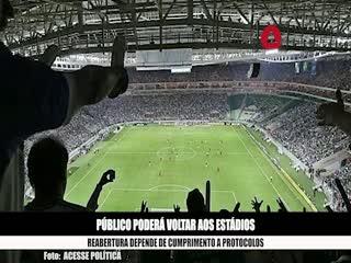 Jogos de futebol da Série A poderão ter 30% de público